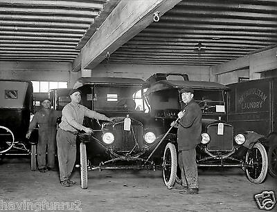 Model T Ford 1923 service department  8 x 10  Photograph