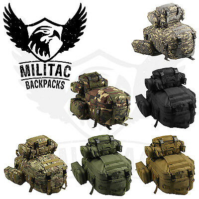 50L Military molle rucksack / Army rucksack with waist pack / Tactical backpack