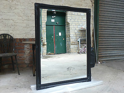 Big Vintage Style Beveled Edged Mirror Mat Black. 105 X 137 Cm  Rrp £139 !!