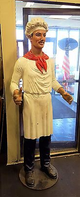 Italian Chef Statue - Life Size / Holds Sign