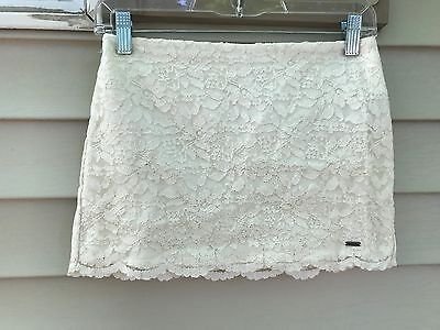 Abercrombie Kids cream Lace Lined Skirt SZ L