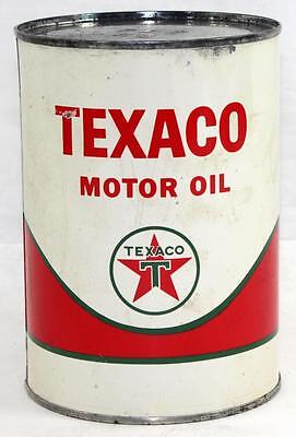 Rare Vintage Texaco Motor Oil Full 1qt Metal Can - Lot 1