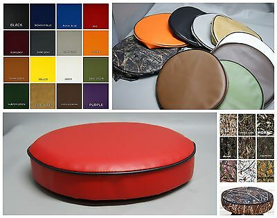 Bar Stool Cover pub kitchen snack SLIP ON vinyl or camo  in 25 colors (W)
