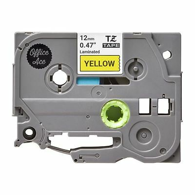 Brother P-Touch 1000 Tape - Compatible TZE-631 Label Tape - Black on Yellow