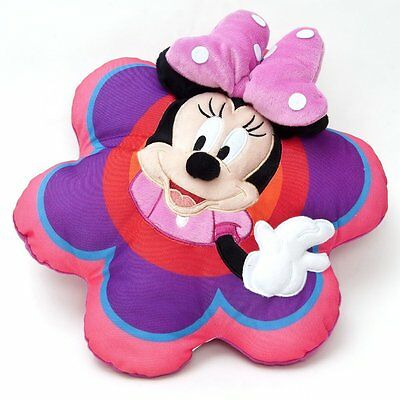 Cuscino MINNIE DISNEY decoro casa a fiore con fiocco in rilievo IDEA REGALO