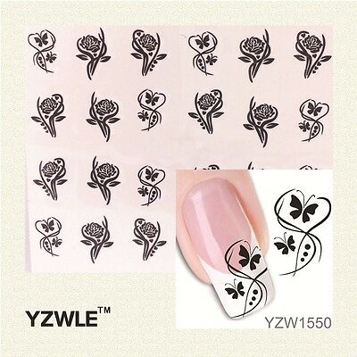 Stickers Ongles Water Décal Nail Art YZW-1550 LIVRAISON 24/48H
