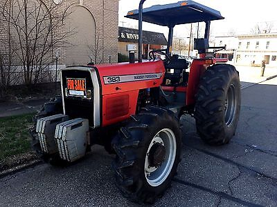 1995 Massey Ferguson 383 4x4 Tractor 81 hp 1780 hrs Great Condition!