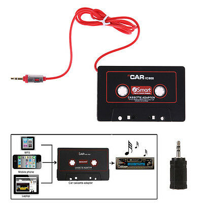 Audio AUX 3.5mm Plug Car Cassette Tape Adapter Converter for iPhone iPod MP3 CD