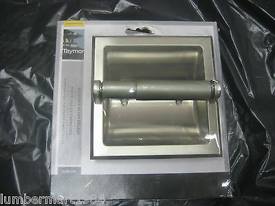 Taymor 02-D101SSN RECESSED TOILET PAPER ROLL HOLDER SATIN NICKEL bathroom parts