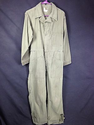 1980's Vintage US Army Cotton Sateen OG Type 1 Mens M Cotton Coveralls Coverall