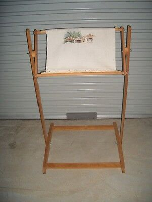 Embroidery / Cross Stitch / Needlwork Timber Floor Stand Working Frame