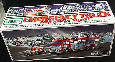 Vintage Collectible 2005 COLLECTIBLE HESS Emergency Truck w/ Rescue Vehicle -MIB