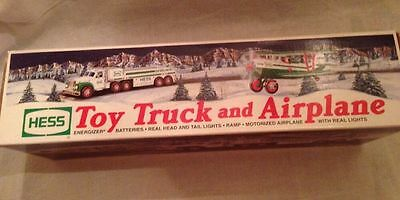 Vintage Collectible 2002 COLLECTIBLE HESS TOY TRUCK AND AIRPLANE - NEW IN BOX