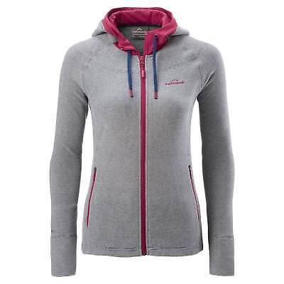 Kathmandu Arenha Womens Hooded Lightweight Full Zip Top Warm Fleece Jacket