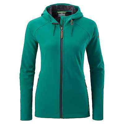 Kathmandu Malazan Womens Hooded Water Repellent Softshell Fleece Jacket v4 Green