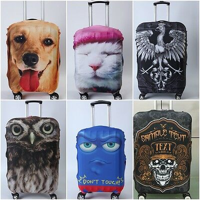"""Elastic Durable Travel Spandex Luggage Suitcase Animal Cover Protector 28""""-30"""""""