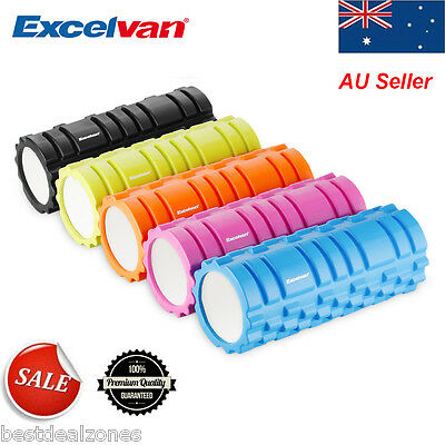 Yoga Foam Roller Grid Trigger Point GYM Fitness Training Workout Pilates Massage