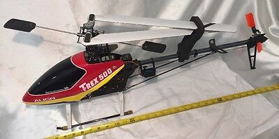 Hobby King HK-500(T-Rex Clone) RC helicopter 3D Turnigy Servos/Futaba Gyro/CLEAN