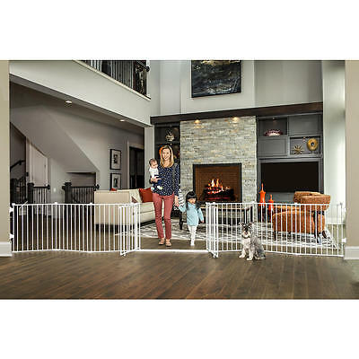 Regalo 28 inch Double Door Super Wide Safety Gate - White