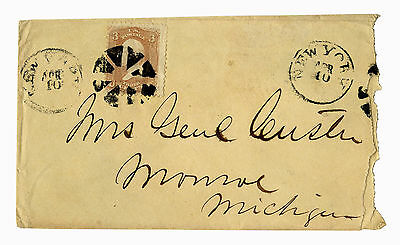 George Custer Envelope Made Out in His Hand to his Wife