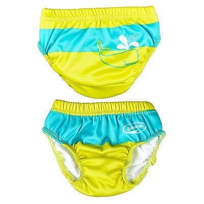 SwimWays Swim Diaper-Size: Medium-Blue and Green-11054-NEW-Water Protection