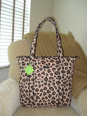 NWT Auth.VERA BRADLEY Vera Large Tote 15461-G74 Grand Leopard Travel Bag $86