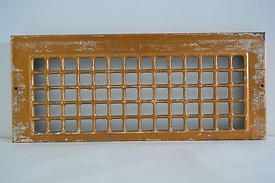 Vintage 60s Cold Air Return Register Wall Grate Stamped Steel Metal Squares