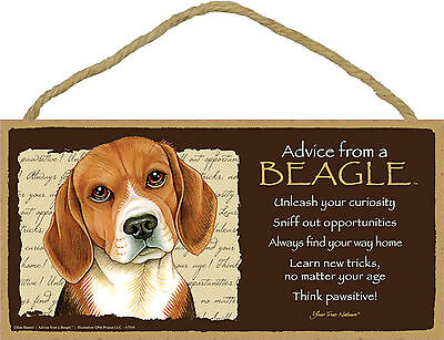 Advice from a Beagle Inspirational Wood Your True Nature Dog Sign Made in USA