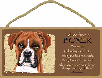 Advice from a Boxer Inspirational Wood Your True Nature Dog Sign Made in USA