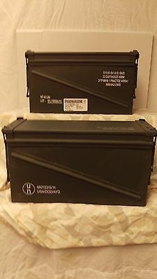 2  good condition 40mm  Ammo Cans  Military Surplus