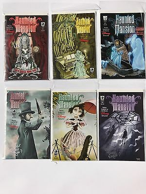 2005 Disney Haunted Mansion Comics #1-6 SIGNED BY SLG ARTISTS  (Free Shipping)