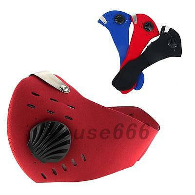 Ski Bike Bicycle Riding PM2.5 Gas Protection Filter Respirator Dust Mask Head