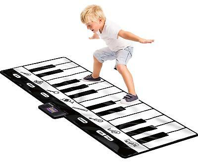 Gigantic Dance Piano Keyboard Play Mat Kid Child Toy 8 Musical Instruments Sound