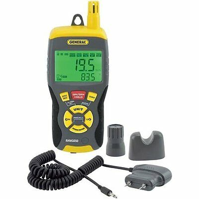OpenBox General Tools RHMG650 9-In-1 Thermo-Hygrometer with Pin/Pinless Moisture