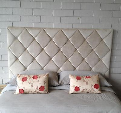 New Upholstered Bedhead for Quee Size Ensemble Headboard Bedroom Diamond pattern