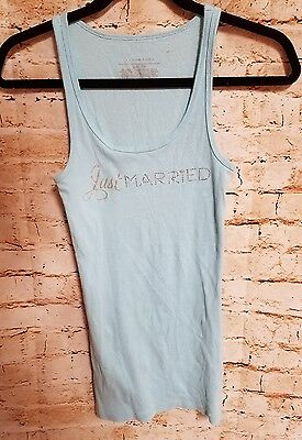 Victorias Secret I do Collection Just Married Wedding Honeymoon Tank Top Size M