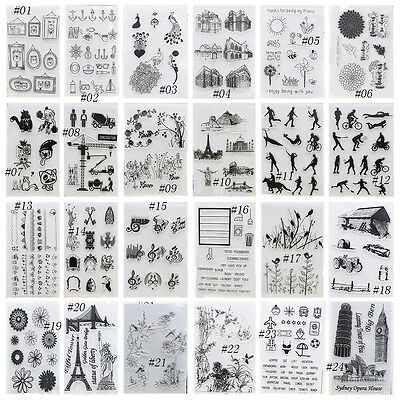 1X Alphabet Transparent Silicone Clear Rubber Stamp Sheet Cling Scrapbooking DIY