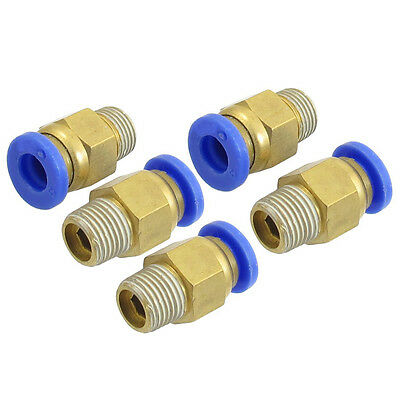 "5 Pcs 1/8"" PT Male Thread 6mm Push In Joint Pneumatic Connector Quick Fittings"
