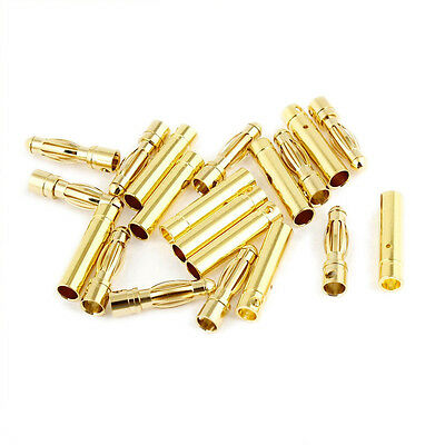 4mm Inside Dia Male Female Banana Plug Bullet Connector Replacement 10 Pairs