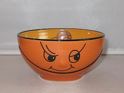 Ceramic FUNNY BASKETBALL FACE Soup or Cereal Bowl