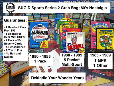 1980's Nostalgia Unopened Packs from Box 100+ Card Lot Pre-1986 Guarantee