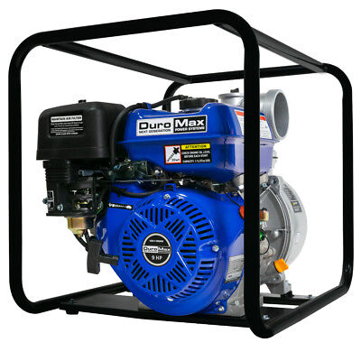 DuroMax XP904WP 4'' Portable 9 HP Gas Power Water Trash Pump NPT Threaded