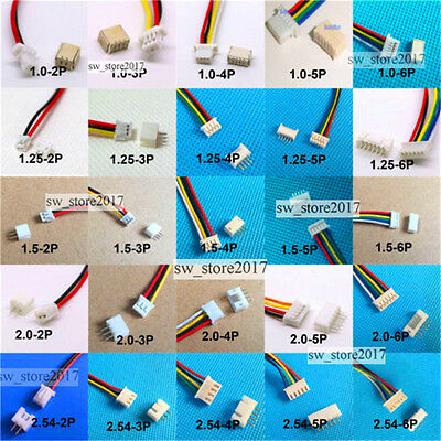 10sets Micro JST 1.0MM PH2.0 GH 1.25 2 3 9 10 PIN 5S1P MALE FEMALE PLUG W/ WIRE