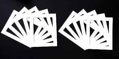 Pack of 10 white, black or cream Photo / Picture Frame Mounts
