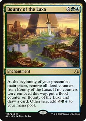 BOUNTY OF THE LUXA Amonkhet MTG Gold Enchantment Rare