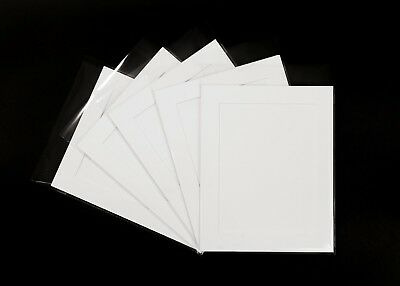 Pack of 10 10 x 8 inch Photo Mount kits with backing boards and clear bags