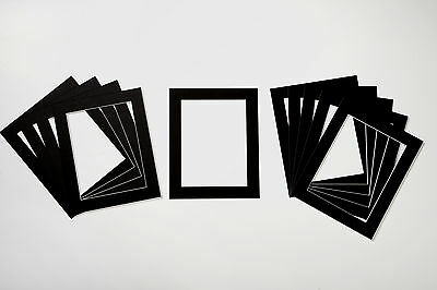 Pack of 25 Photo/Picture Mounts - White, Black or Cream