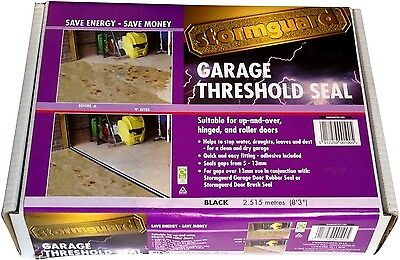 Stormguard Garage Door Floor Threshold draught excluder Seal Gaps Kit  5 - 13mm