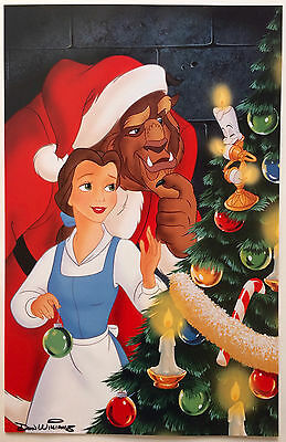 """Disney's """"Beauty and the Beast"""" Christmas Don Williams Signed Poster"""
