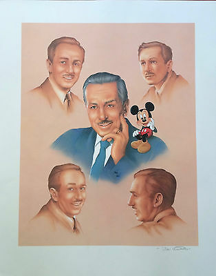 """Disney's """"Memories of Walt"""" Don Williams Signed Lithograph"""